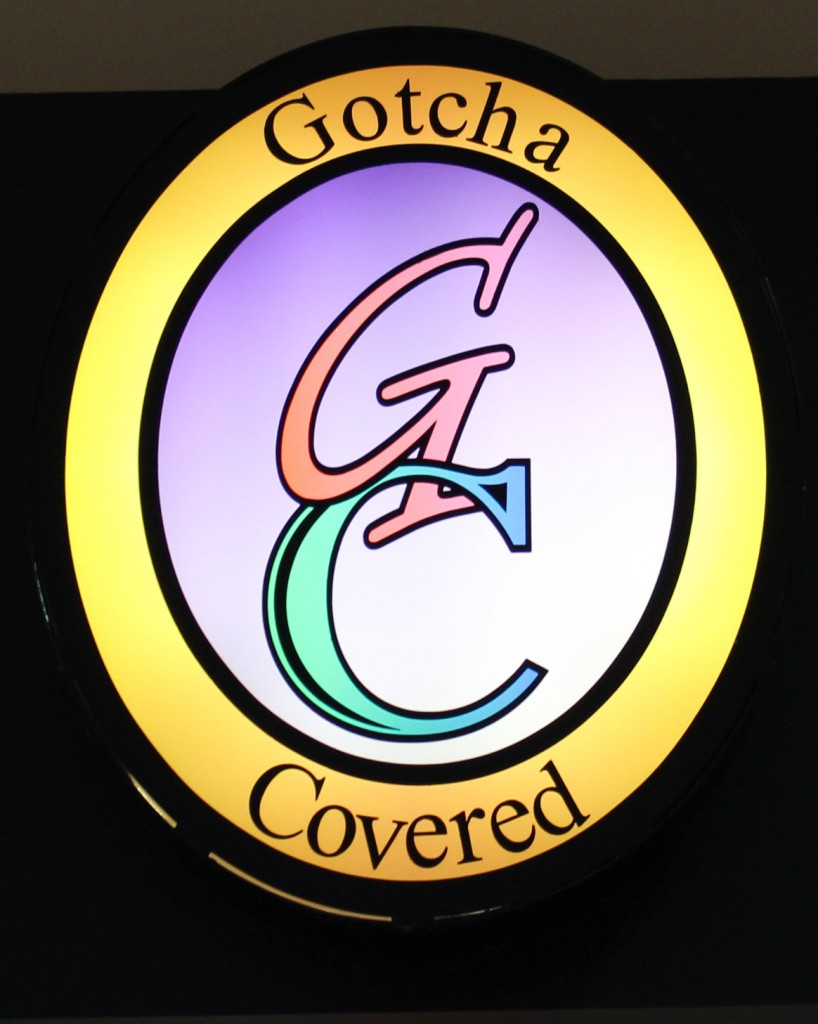 Gotcha Covered Logo Sign